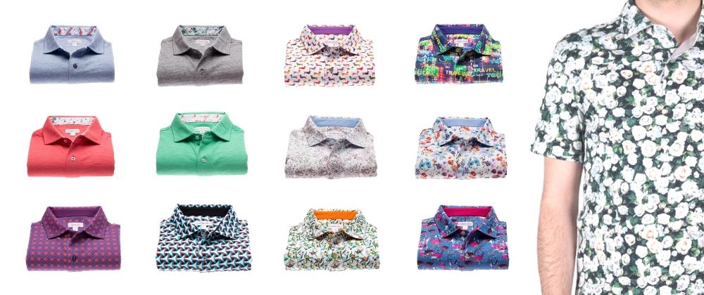 柄シャツ専門店コトンドゥ/CotonDoux ポロシャツの新コレクションリリースしました