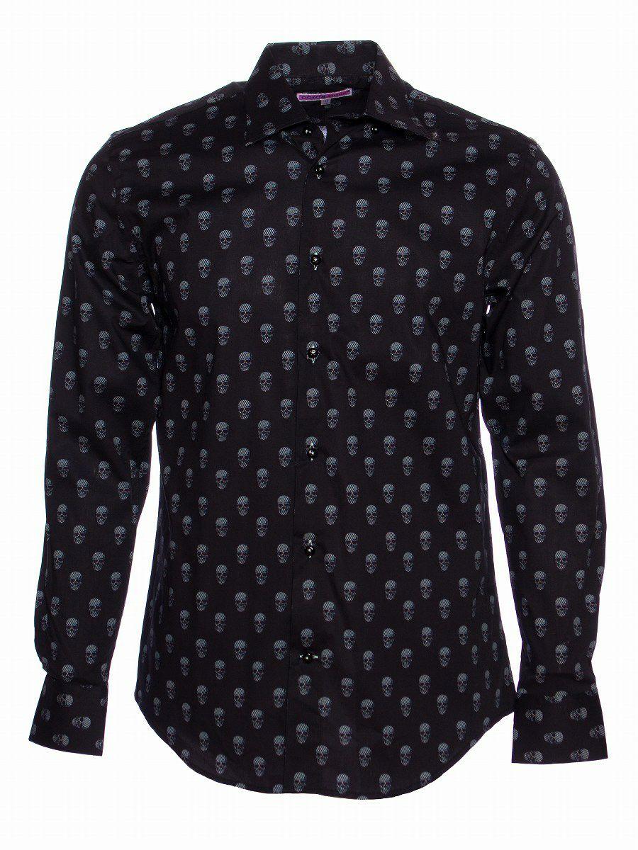 柄シャツ かっこいい 黒 メンズ スカル柄 ブランド|シャツ専門店コトンドゥ/CotonDoux