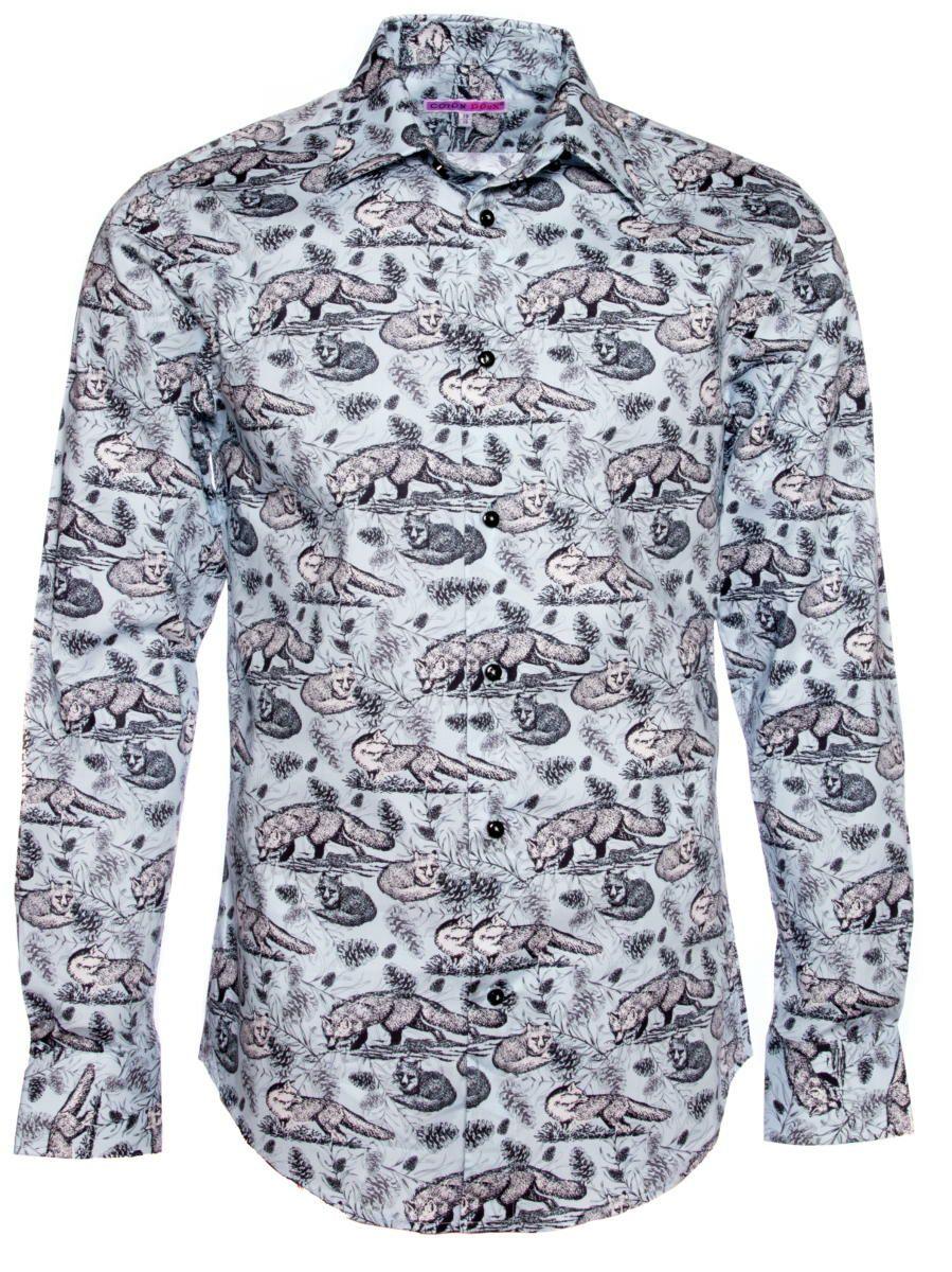 柄シャツ レトロ かわいい 動物柄 メンズ|シャツ専門店パリのシャツブランド・コトンドゥ/CotonDoux
