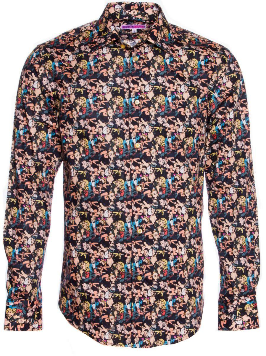 柄シャツ 個性的 コミック柄|柄シャツ専門店パリのシャツブランド・コトンドゥ/CotonDoux