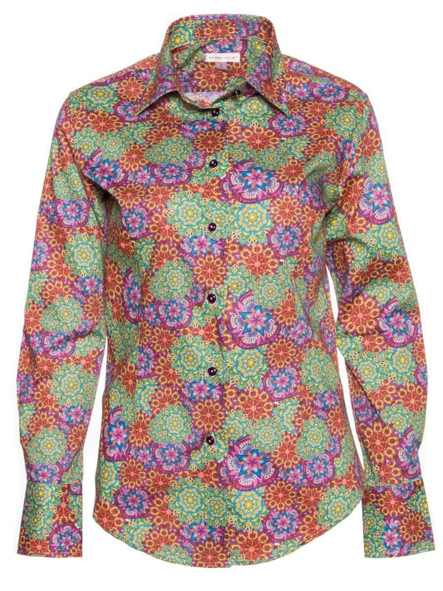 柄シャツ オシャレ 花柄 レディース パリのシャツブランド・コトンドゥ/CotonDoux